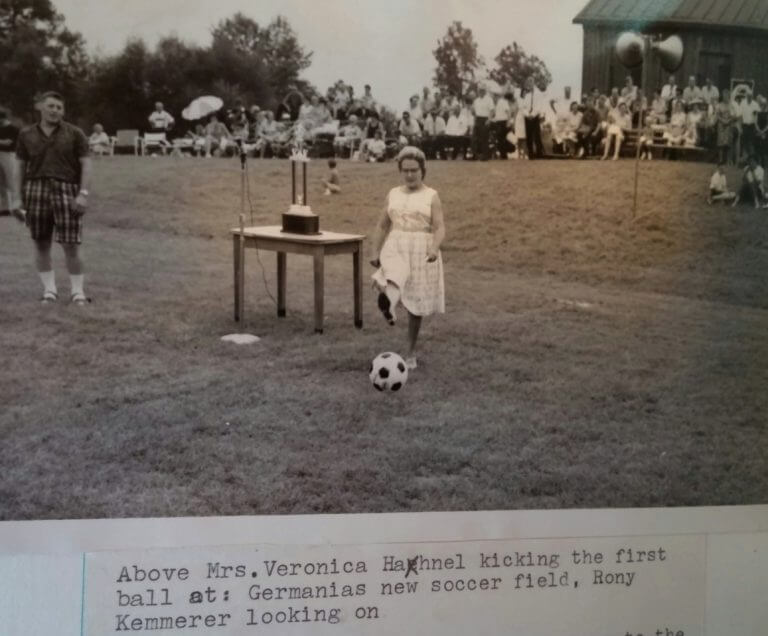 1967 Soccer field dedicated Veronica Hahnel