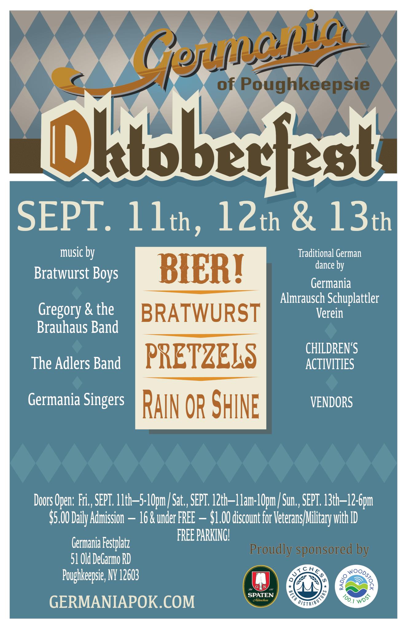 Germania oF Poughkeepsie, Oktoberfest 2020 poster